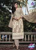 NS10320 Brown Party Wear Faux Georgette or Net Designer Straight Suit