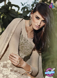 NS10320 Beige Party Wear Faux Georgette or Net Designer Straight Suit Online
