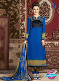AZ 3676 Blue Crepe Pakistani Suit
