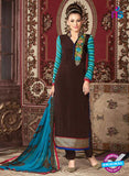 AZ 3679 Brown Crepe Pakistani Suit