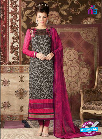 AZ 3680 Black Crepe Pakistani Suit