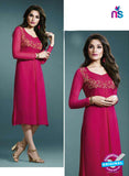Vinay Fashion 33272 Magenta Designer Georgette Fancy Exclusive Party Wear XL Size Stitched Kurti