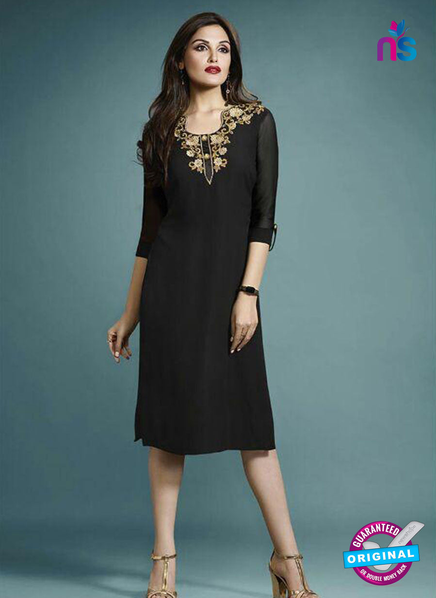 Vinay Fashion 33275 Black Designer Georgette Fancy Exclusive Party Wear XL Size Stitched Kurti