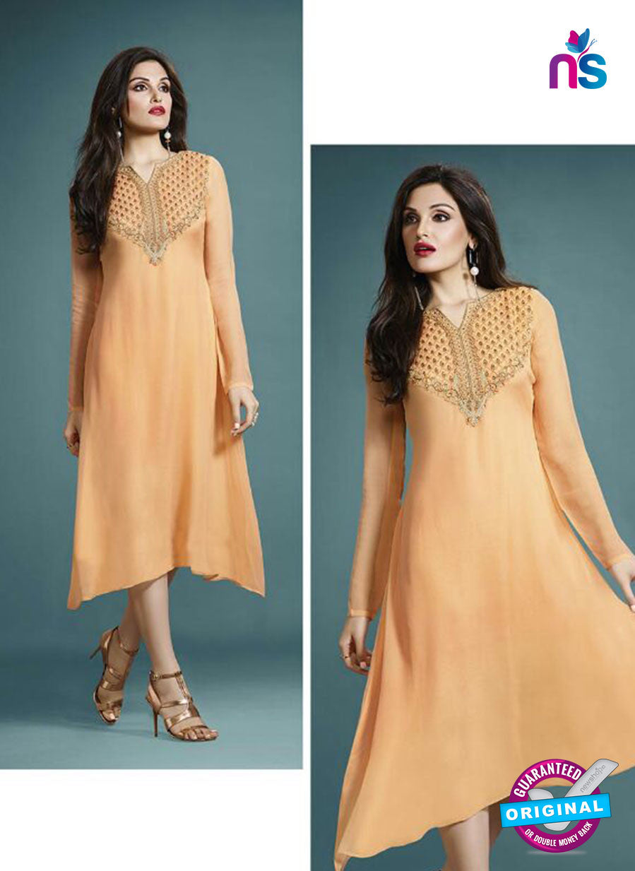 Vinay Fashion 33279 Orange Designer Georgette Fancy Exclusive Party Wear XL Size Stitched Tunic