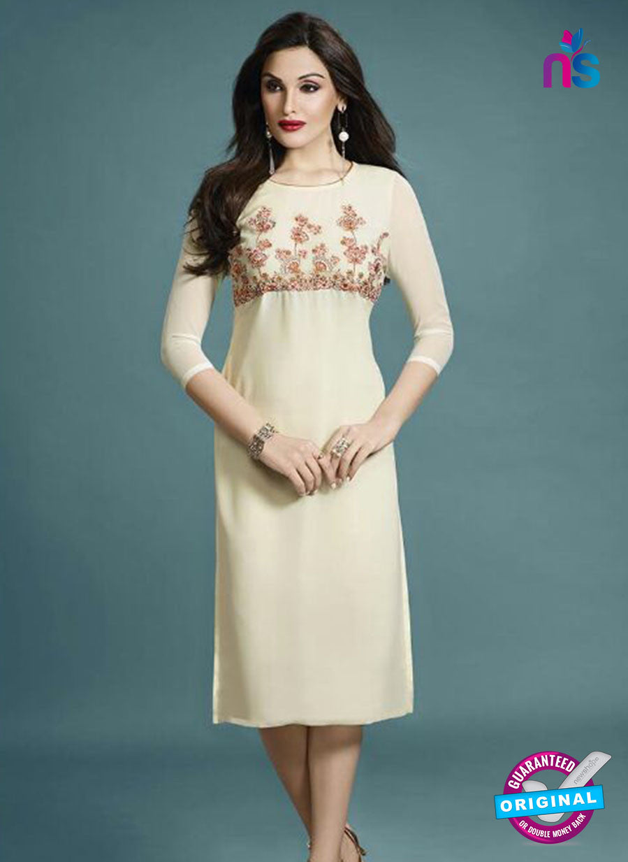 Vinay Fashion 33281 White Designer Georgette Fancy Exclusive Party Wear XL Size Stitched Kurti