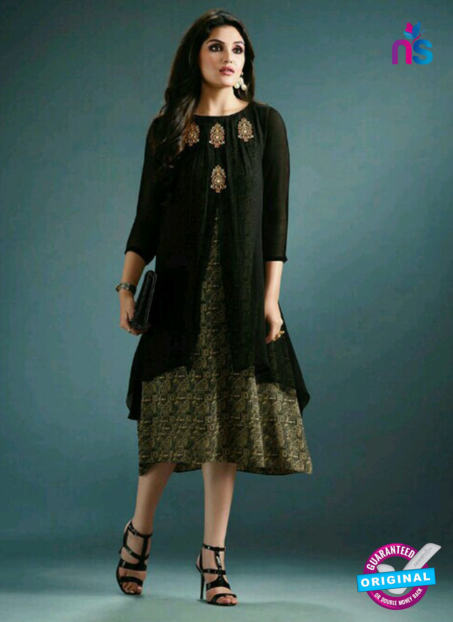 Vinay Fashion 33363 Black Designer Georgette Tunic
