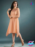 Vinay Fashion 33370 Peach Designer Georgette Tunic