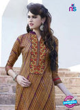 SC 12908 Multicolor and Beige Printed Embroidered Glace Cotton Straight Suit online