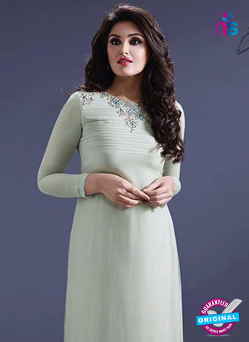 SC 14287 Sea Green Georgette Kurti