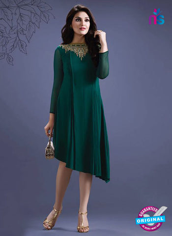 SC 14290 Green Georgette Tunic