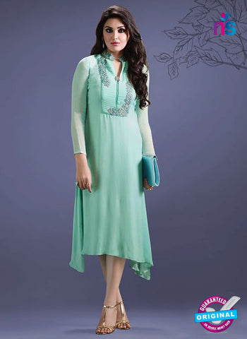 SC 14292 Sea Green Georgette Tunic