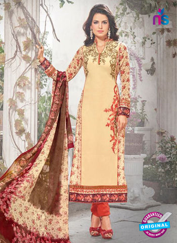 Bela 334 Beige Georgette Party Wear Suit