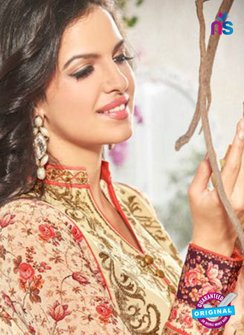 Bela 334 Beige Georgette Party Wear Suit Online