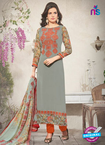 AZ 3711 Grey Georgette Party Wear Suit