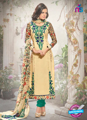 Bela 337 Beige Georgette Party Wear Suit