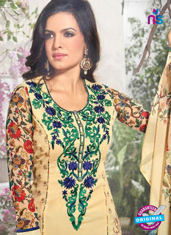 Bela 337 Beige Georgette Party Wear Suit Online