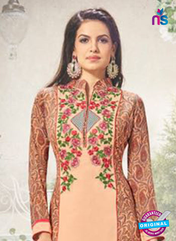 AZ 3715 Peach Georgette Party Wear Suit