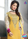 NS10703 C Yellow and Magenta Designer Straight Suit