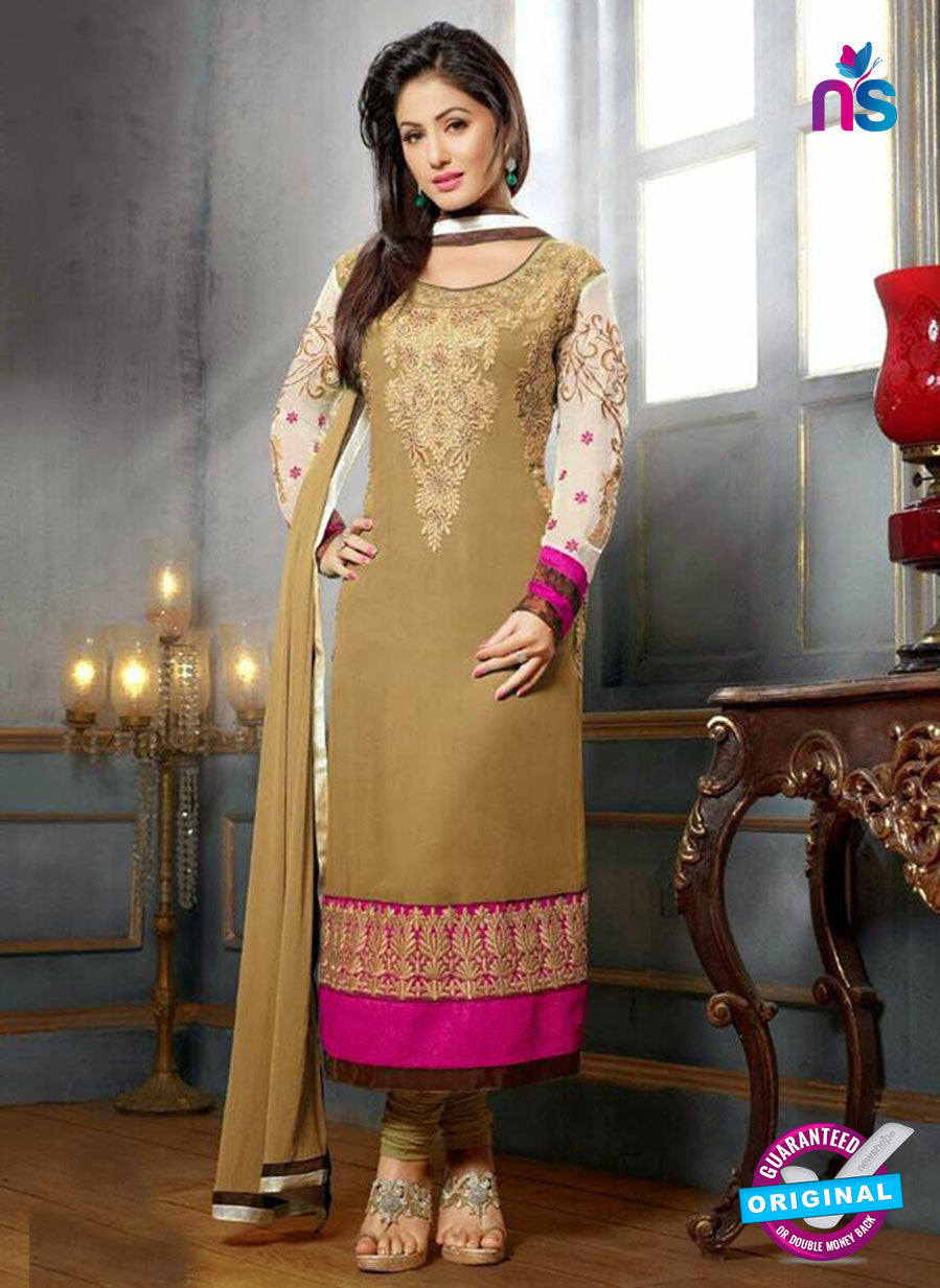NS10704 G Beige and Magenta Designer Straight Suit