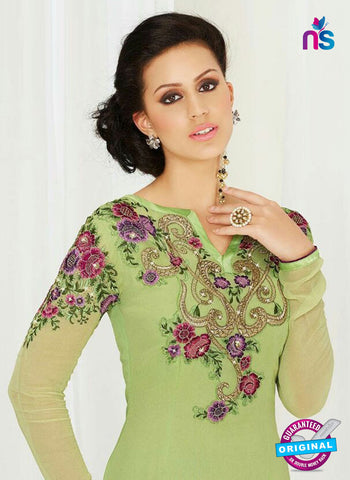 AZ 4044 Green Georgette Party Wear Suit
