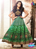 Maskeen 3403 Black and Green Satin Fancy Designer Gown