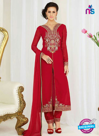 AZ 4045 Maroon Georgette Party Wear Suit