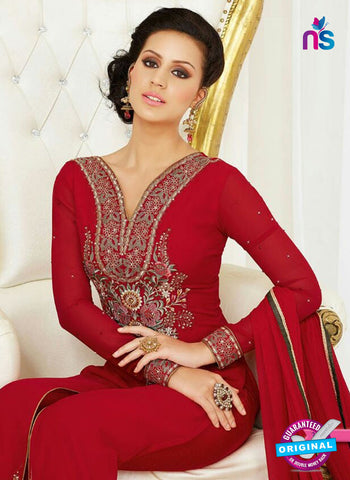 Raaga Krshna 3403 Red Georgette Party Wear Suit Online