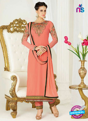 AZ 4047 Peach Georgette Party Wear Suit