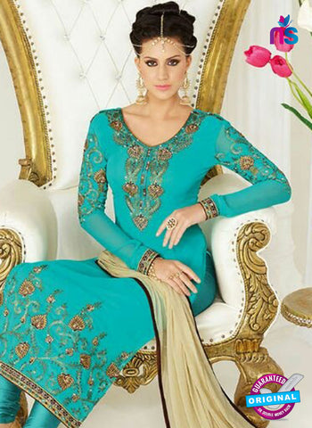 AZ 4048 Sea Green Georgette Party Wear Suit