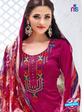Kalakirti 3406 Pink Glace Cotton Patiala Suit