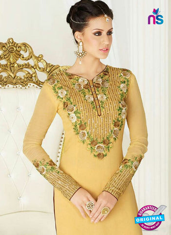AZ 4049 Yellow Georgette Party Wear Suit