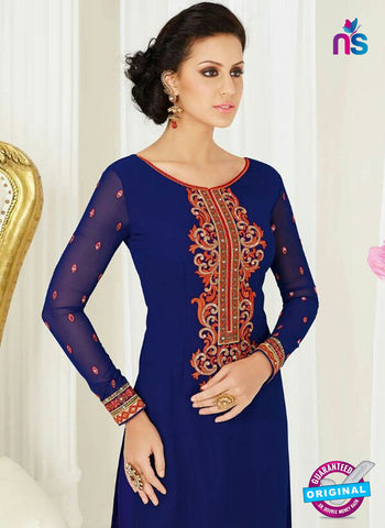 AZ 4050 Blue Georgette Party Wear Suit