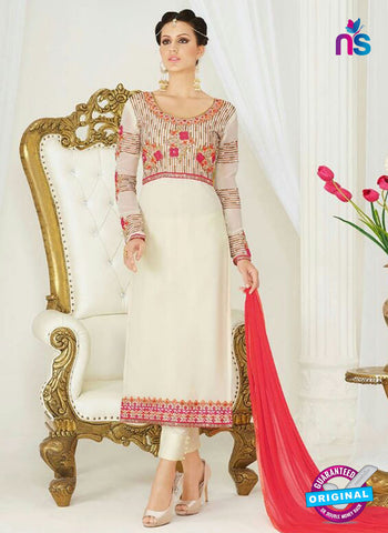 AZ 4051 Beige Georgette Party Wear Suit
