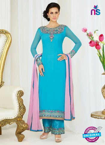 AZ 4052 Sky Blue Georgette Party Wear Suit