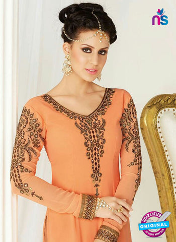 AZ 4053 Orange Georgette Party Wear Suit
