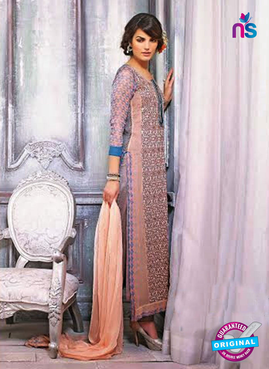 Ganga 3436 Peach Color Georgette Designer Straight Suit