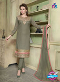 SC 12349 Beige and Pink Georgette with Schiffli Work Party Wear Straight Suit