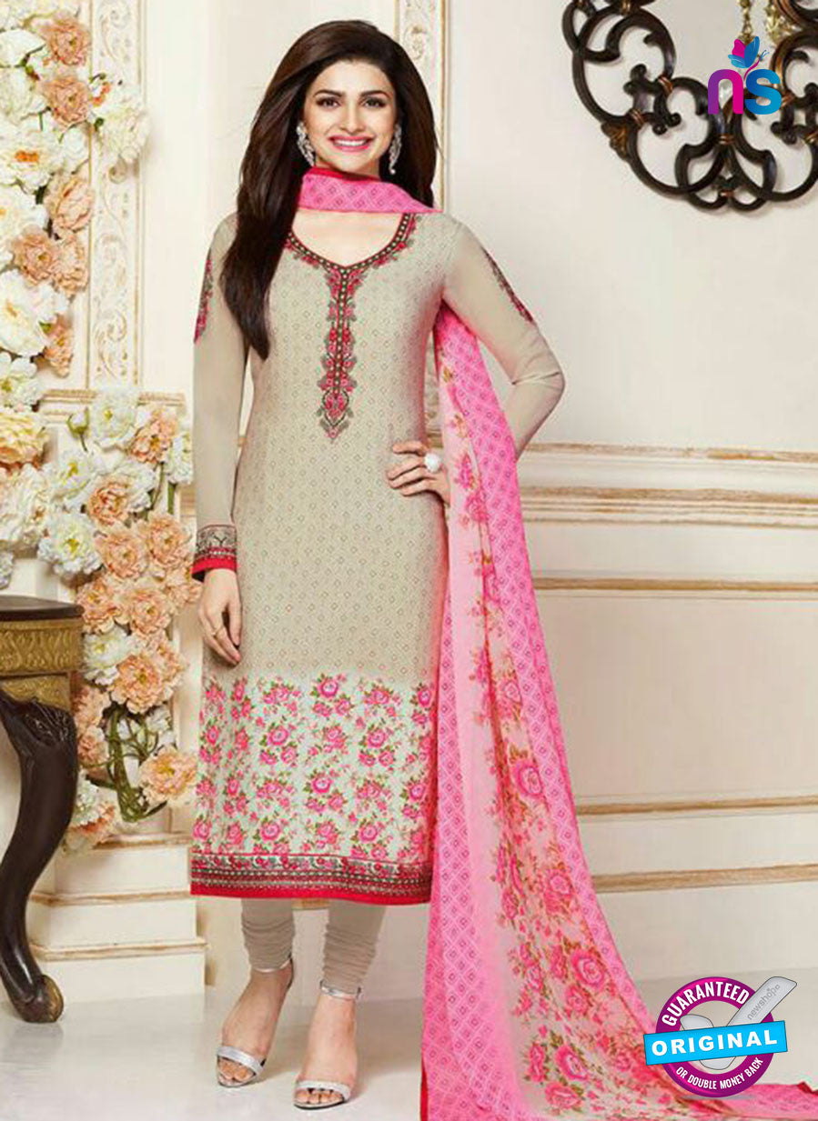 Vinay Fashion 3482 Beige and Pink Crape Party Wear Suit