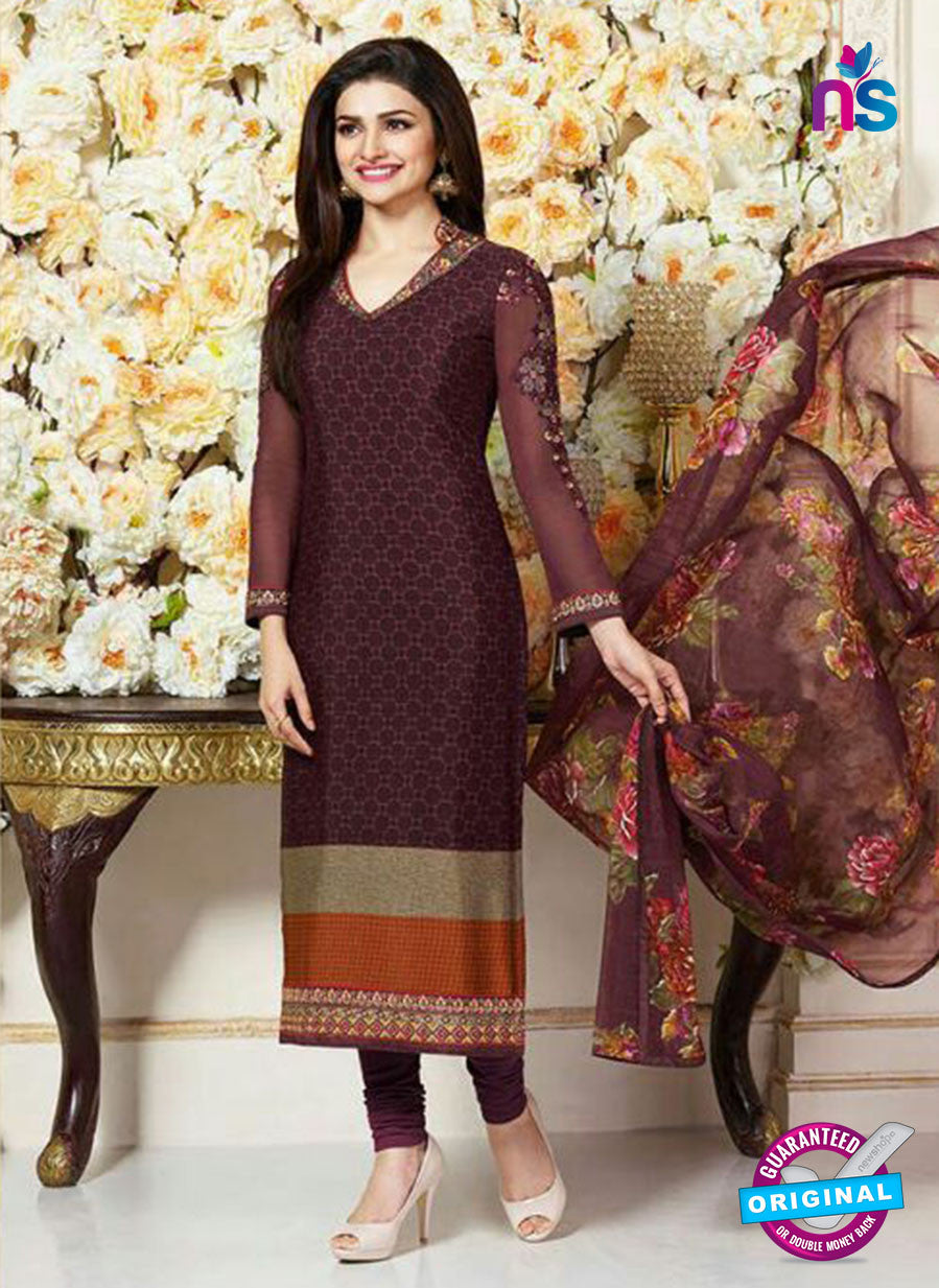 Vinay Fashion 3483 Beige and Brown Crape Party Wear Suit