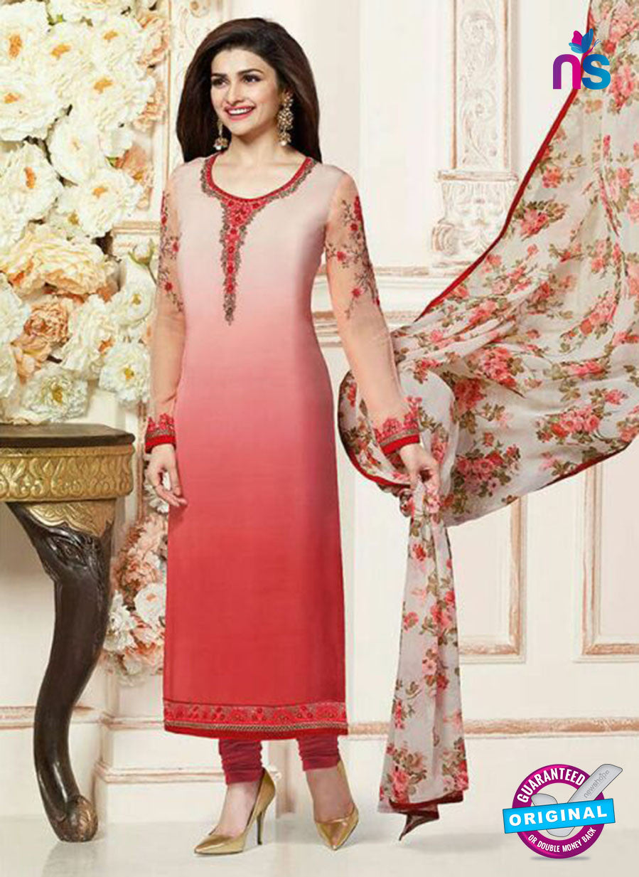 Vinay Fashion 3485 Peach and Red Crape Party Wear Suit