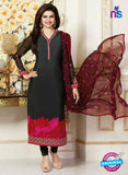 Vinay Fashion 3487 Black and Pink Crape Party Wear Suit