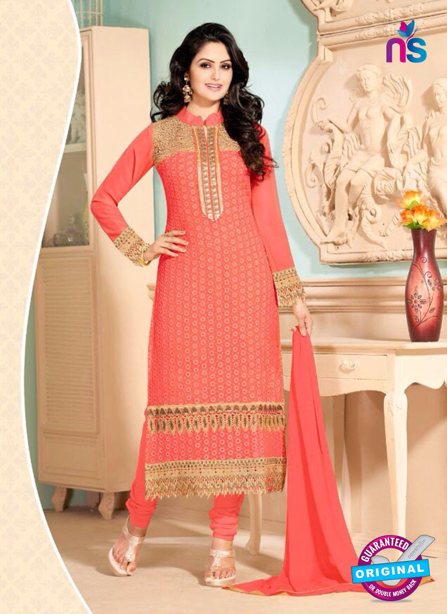 NS10909 Orange Color Georgette Straight Suit