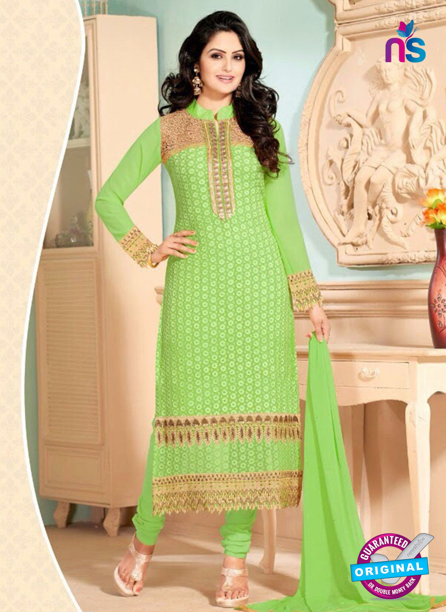 NS10911 Light Green Georgette Straigh Suit