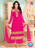 NS10913 Deep Pink Georgette Straight Suit