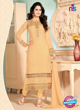 NS10914 Brown Georgette Straight Suit
