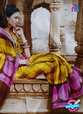 SC 13209 Purple and Yellow Bhagalpuri Saree