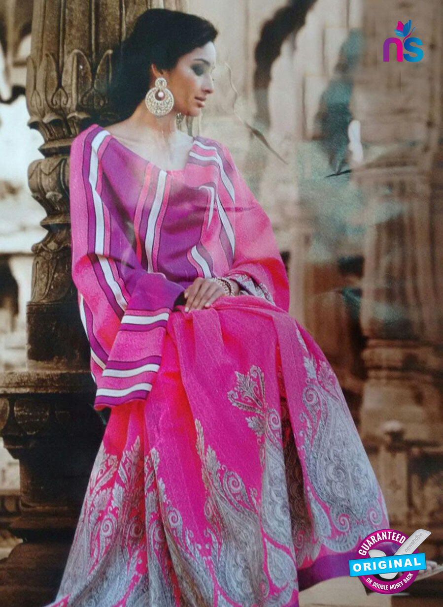 SC 13207 Pink and Purple Bhagalpuri Saree