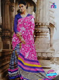 SC 13205 Pink and Blue Bhagalpuri Saree