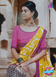 SC 13208 Yellow, Pink and Multicolor Bhagalpuri Saree