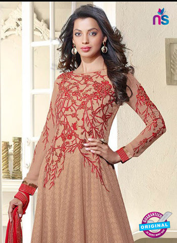 Kessi 3552 Light Brown Anarkali Suit